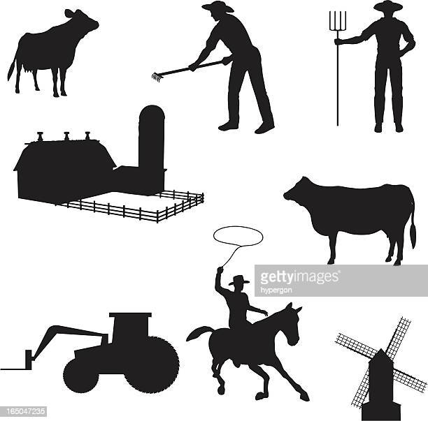 Farming Silhouette Collection (vector+jpg)