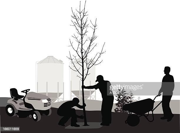 farming - landscaper stock illustrations, clip art, cartoons, & icons