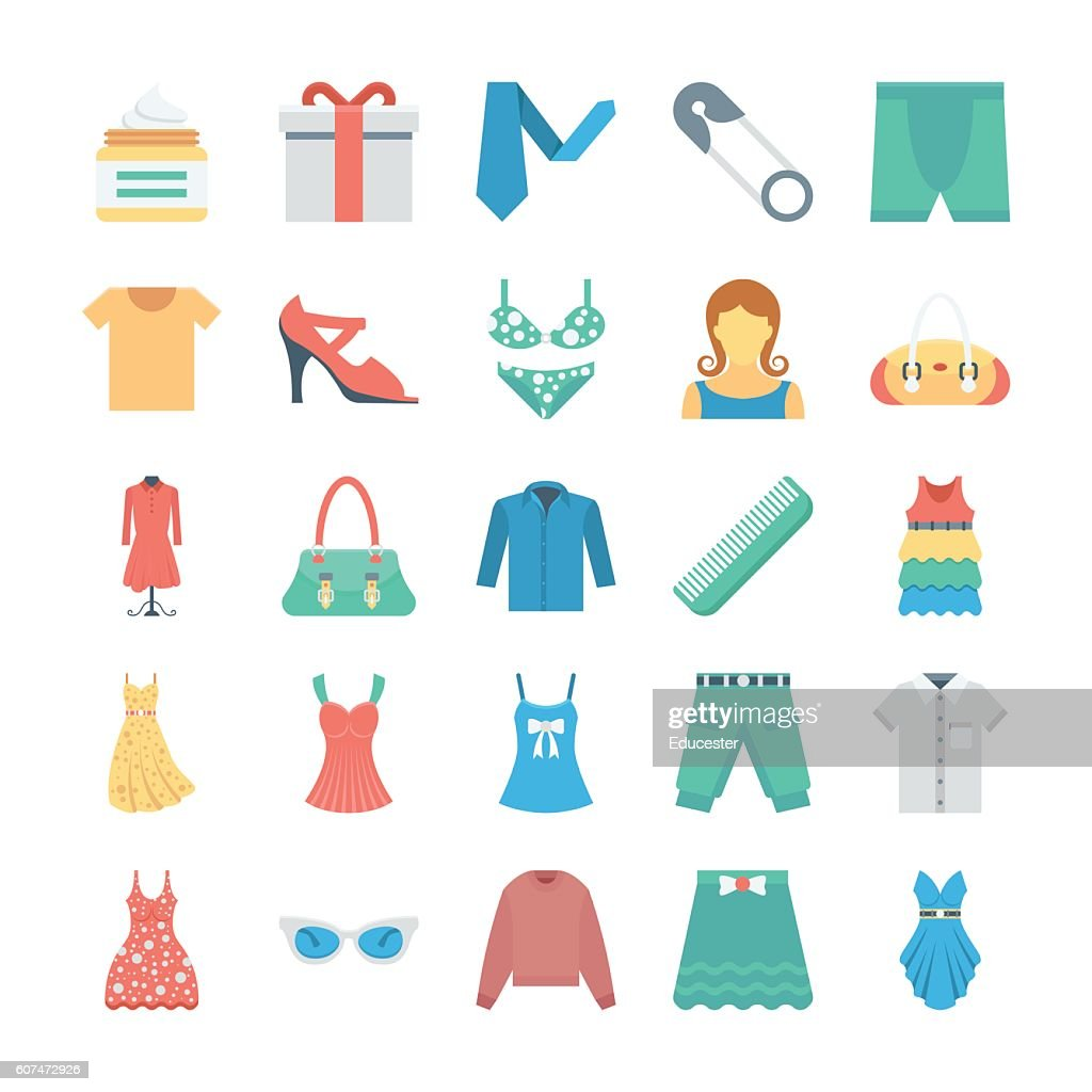 Fashion and Clothes Vector Icons 8