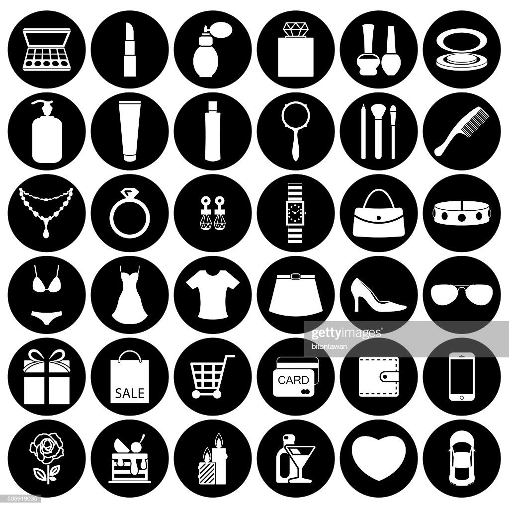 Fashion and women accessories, icons