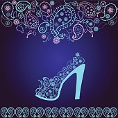 Fashion Background of high heel  beautiful Shoe