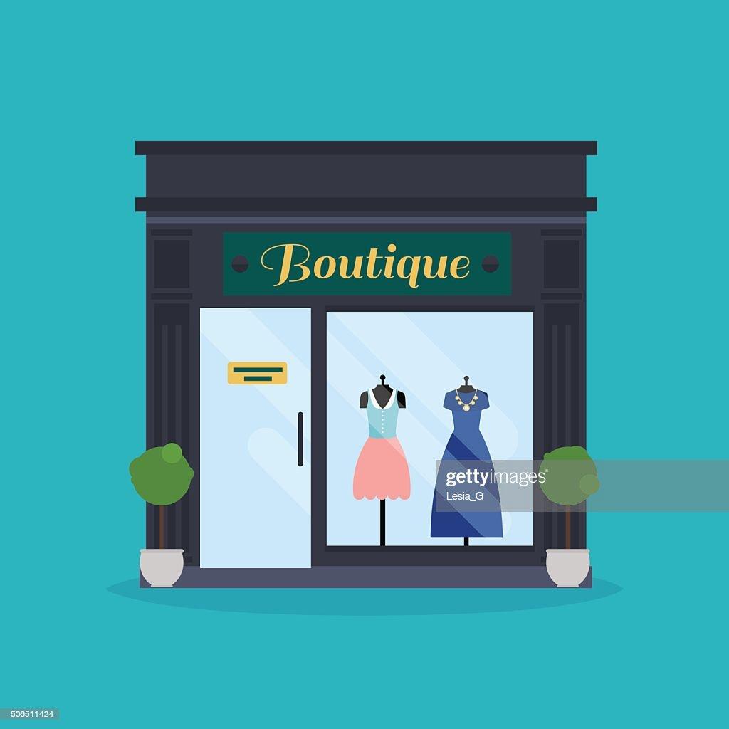 Fashion boutique facade. Clothes shop. Ideal for market business