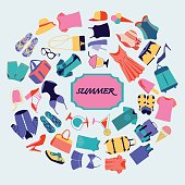 Fashion boutique Summer sales background