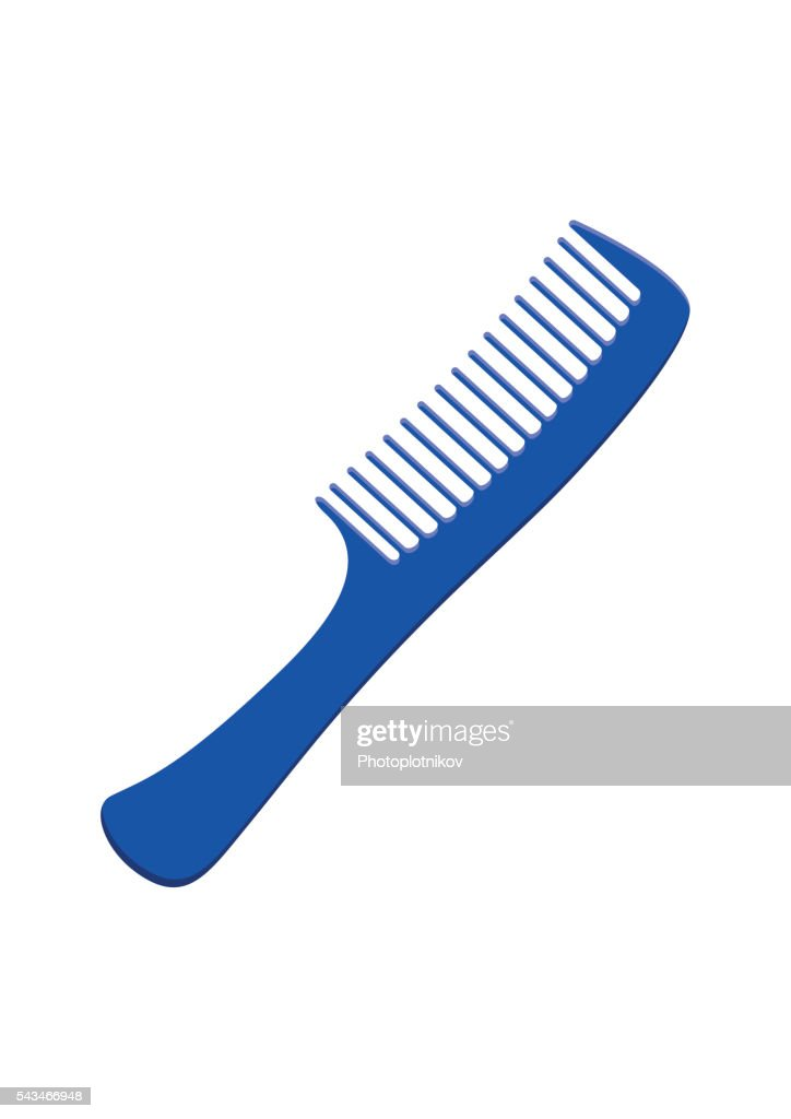 Fashion comb icon hairdresser care equipment. Hair barber styling accessory