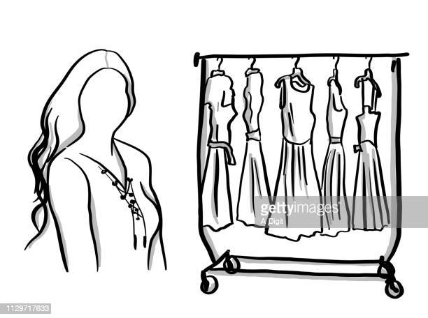 fashion consultant - femininity stock illustrations
