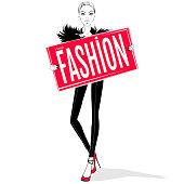 Fashion girl illustration