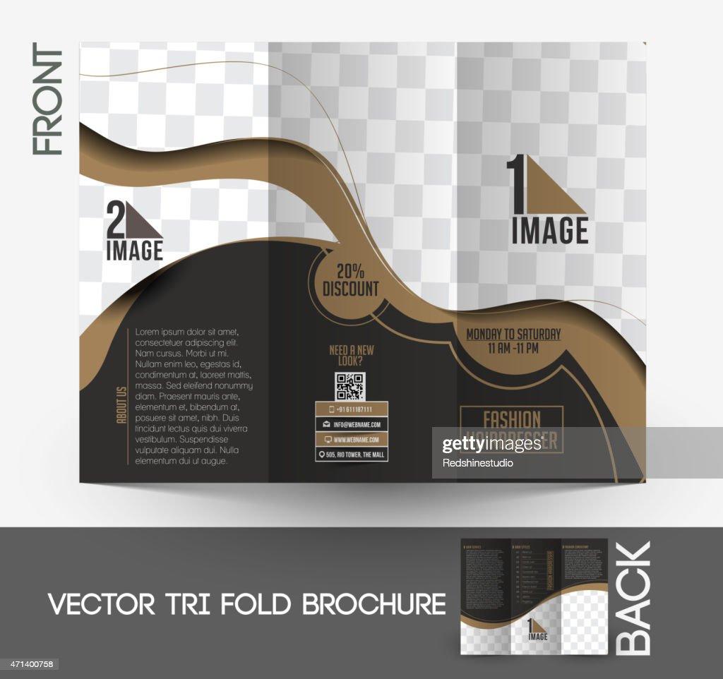Fashion Hairdresser Tri-Fold Brochure