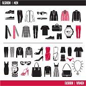 Fashion icons. Clothes.