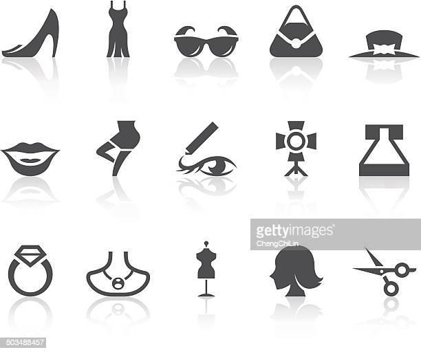 ilustraciones, imágenes clip art, dibujos animados e iconos de stock de iconos de la moda/simple de la serie black - modelo de artista