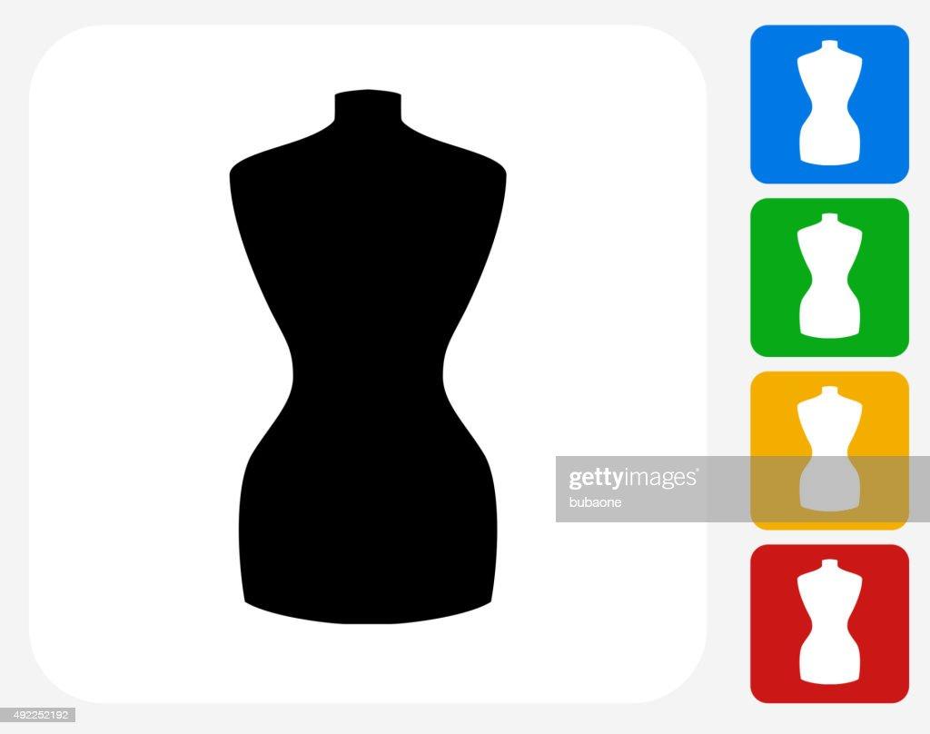 Fashion Mannequin Icon Flat Graphic Design Vector Art
