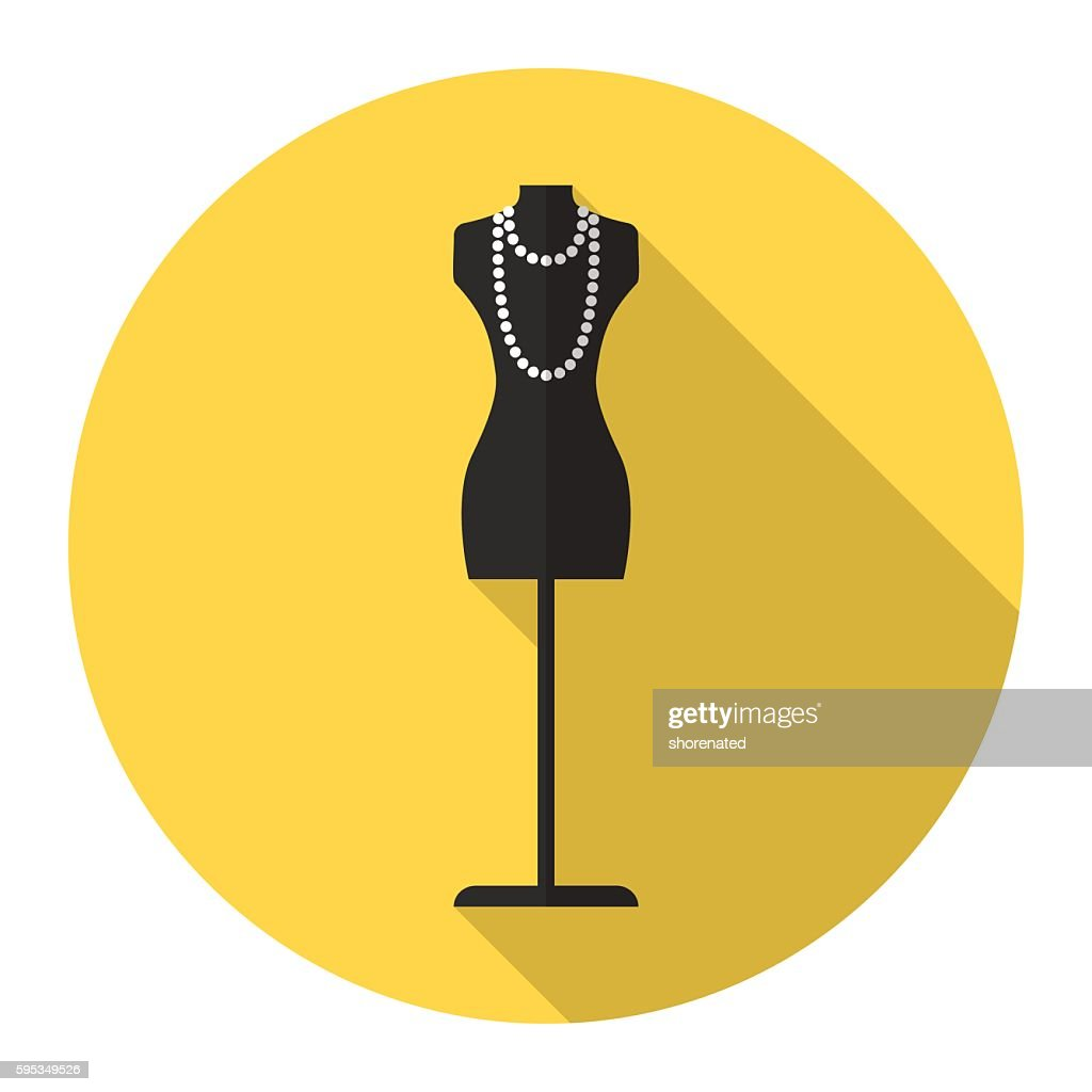 fashion mannequin vector flat icon.