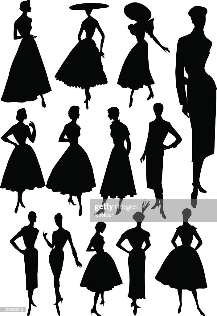 Fashion model - 1950's style