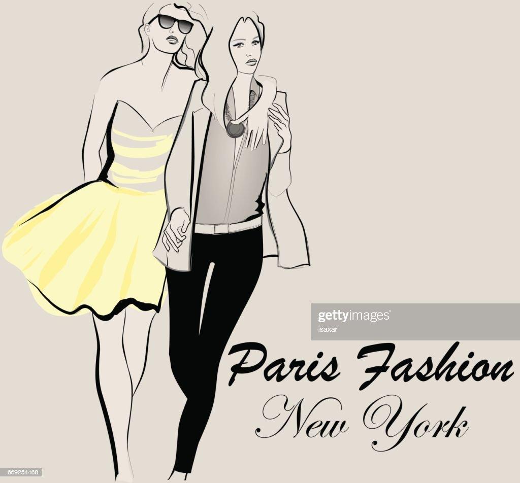 Fashion model defile