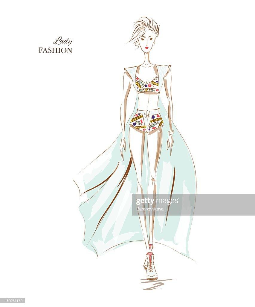 Fashion Model Elegant