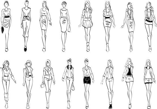 Free fashion sketch Images, Pictures, and Royalty-Free