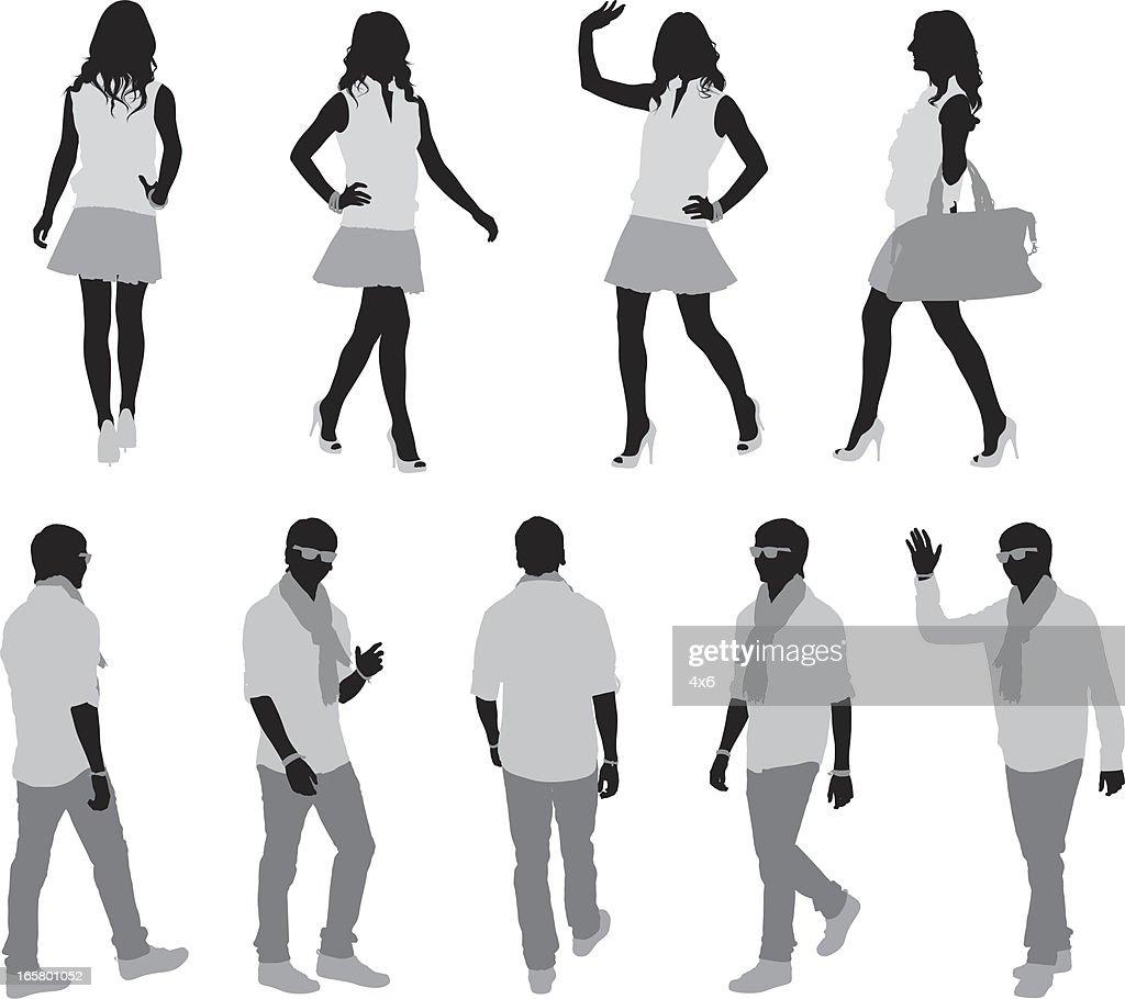 Fashion models walking