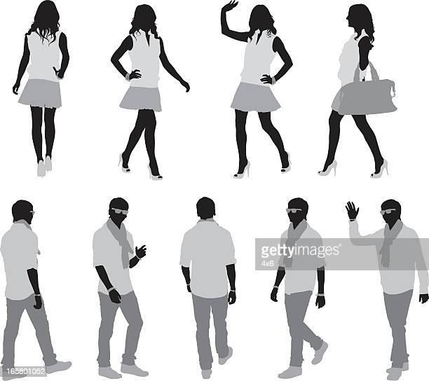 ファッションのモデル散歩