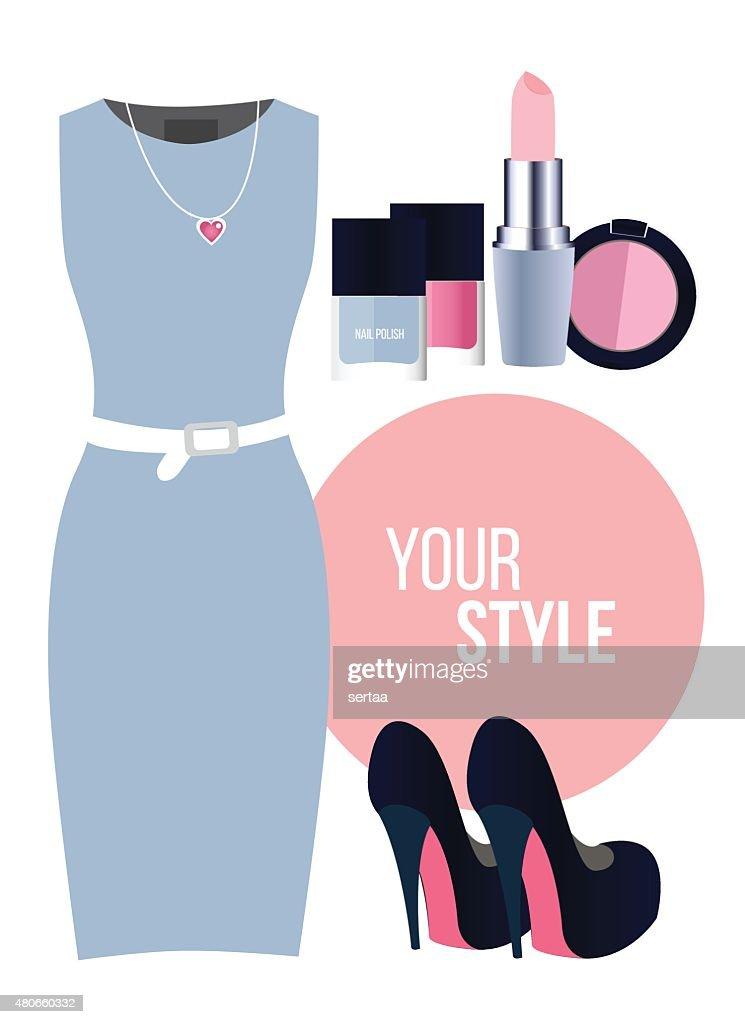Fashion set - Blue Dress