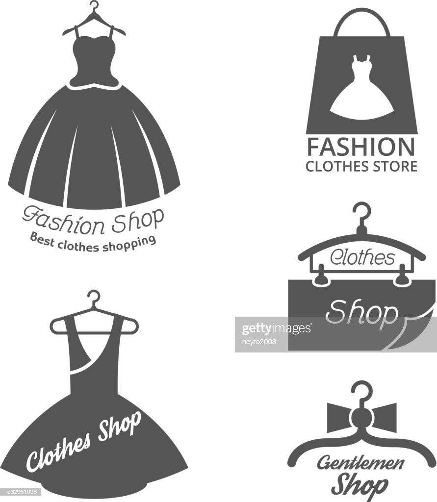 Fashion shop vector logos, labels set