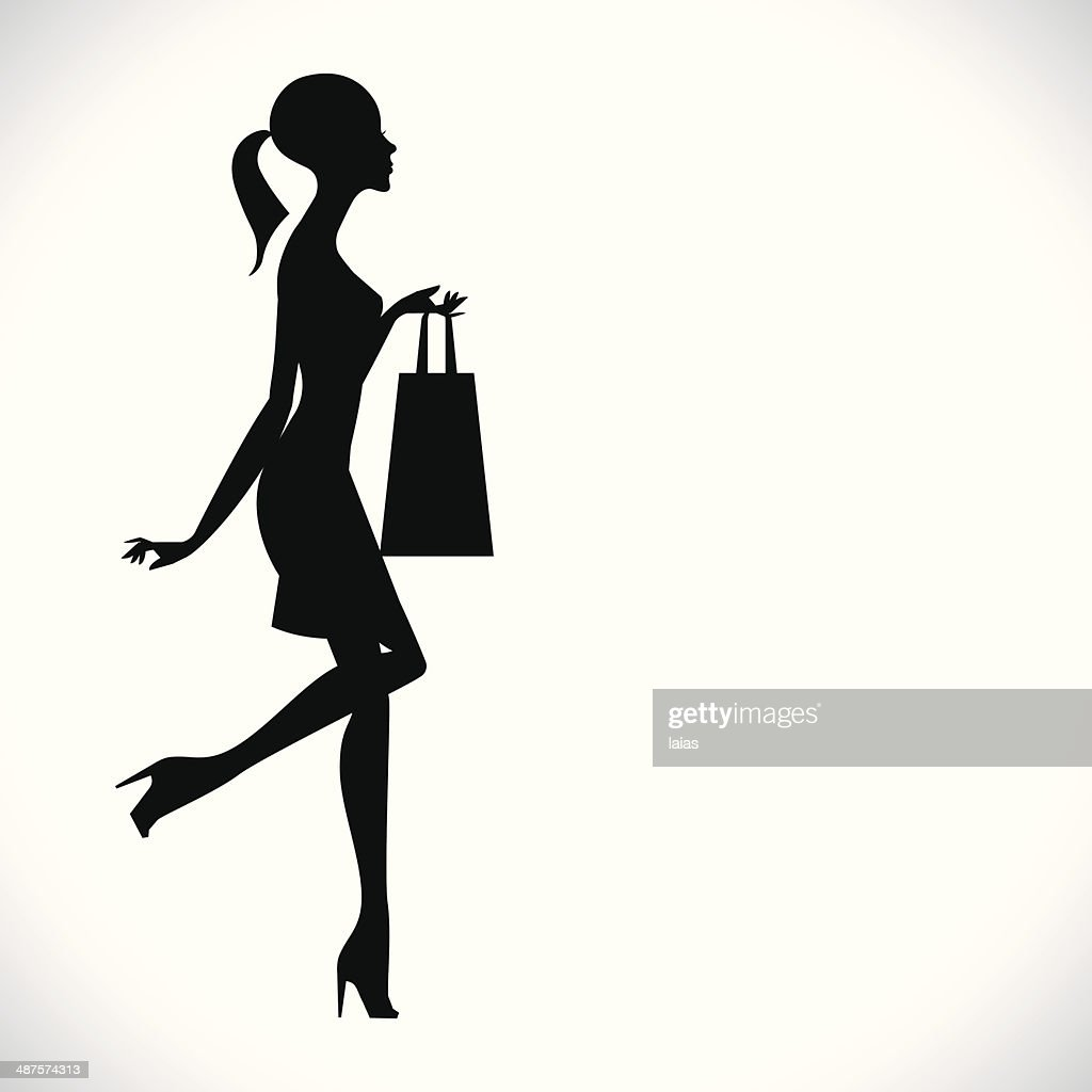 fashion shopping girl silhouette