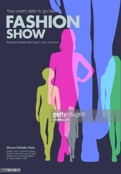 fashion show poster template - fashion runway stock illustrations