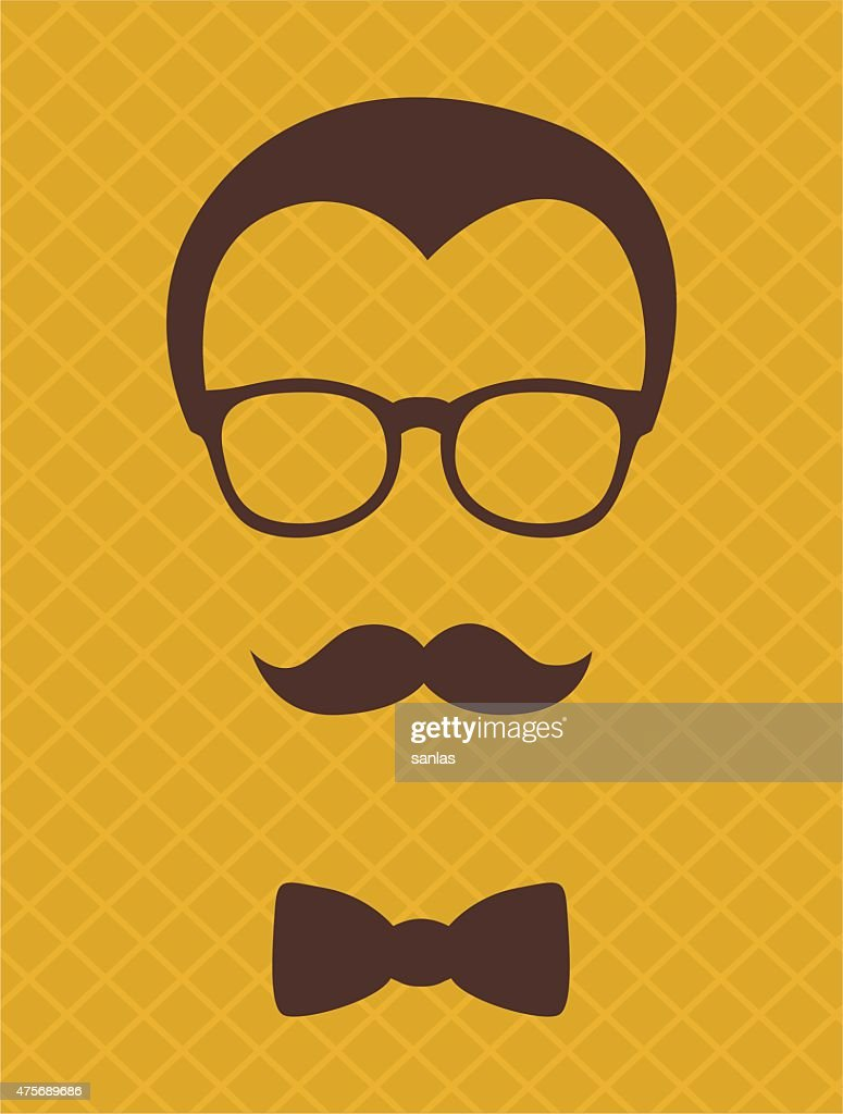 Fashion silhouette hipster style