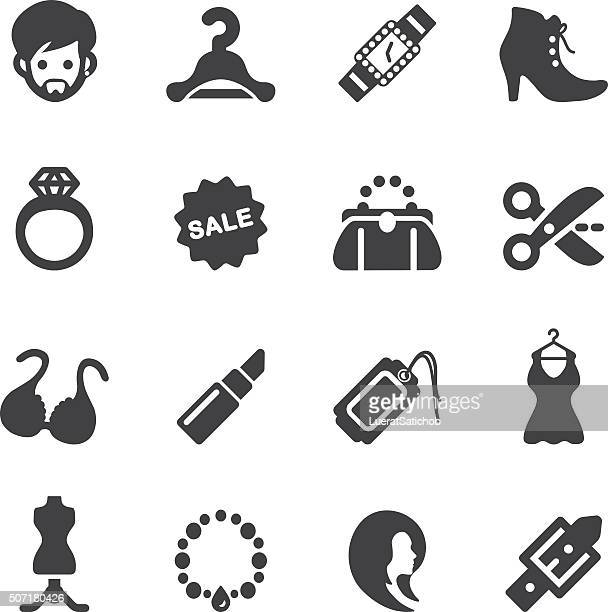 fashion silhouette icons | eps10 - clip art stock illustrations