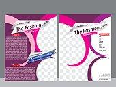 fashion store flyer & magazine design template