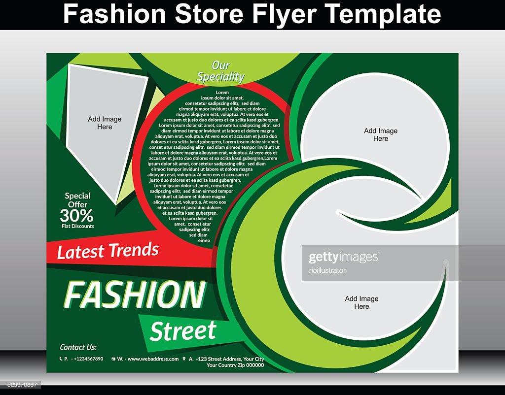 fashion store flyer template vector art getty images