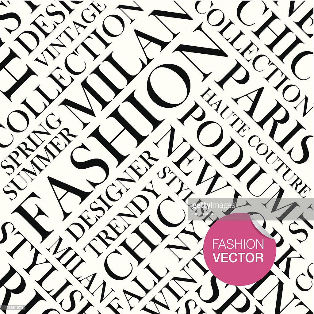 Fashion vector background, words cloud.