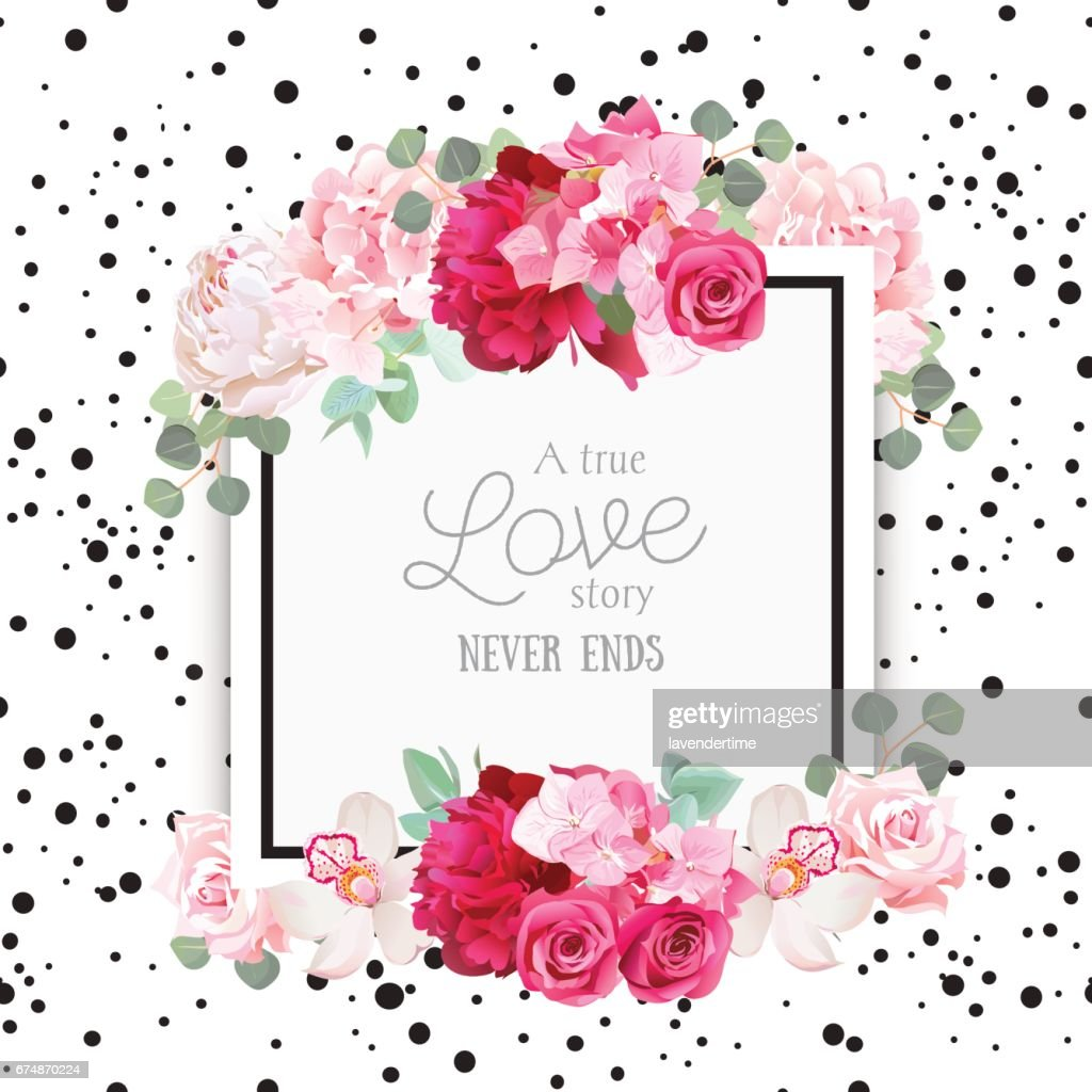 Fashion vector design square card with black confetti background