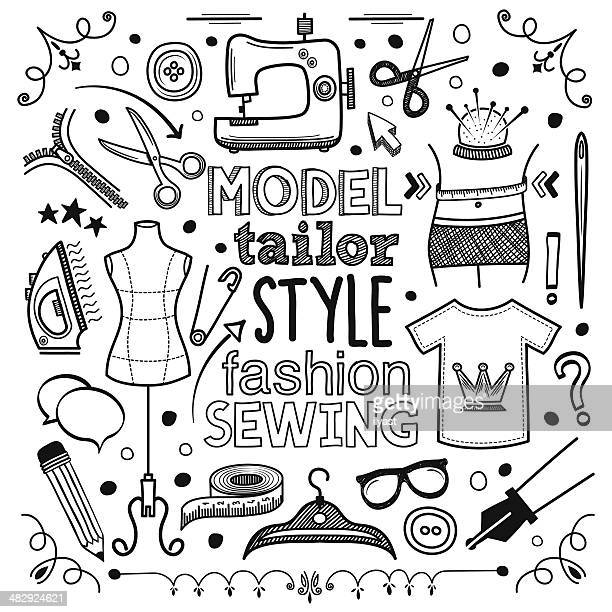 fashion - textile industry stock illustrations