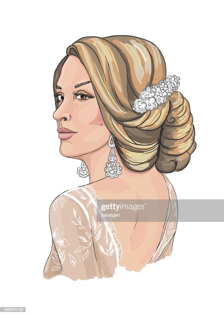 Fashion woman. Female wedding portrait