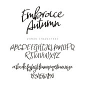 Fashionable modern font.