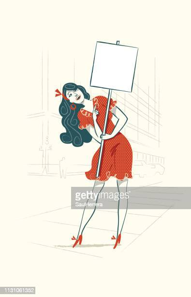 fashionable modern with sign - espacio en blanco stock illustrations