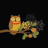 Fashionable owl.