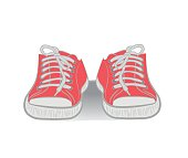 Fashionable red shoes. vector illustration.