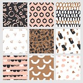 Fashionable seamless pattern design collection