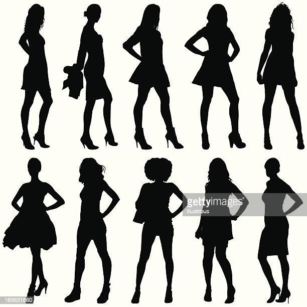 Fashionable Women Silhouettes