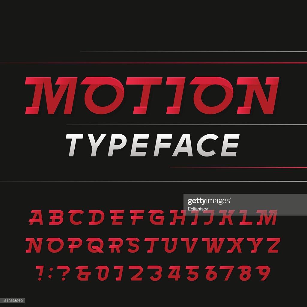 Fast alphabet vector font.