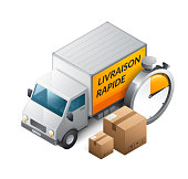 Fast delivery in French : Livraison rapide