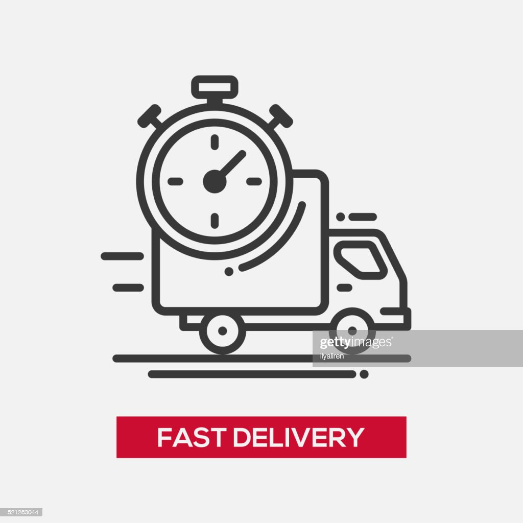 Fast delivery service single icon