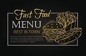 Fast food design menu