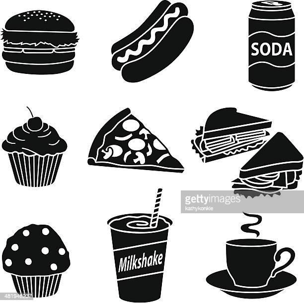fast food diet - hamburger stock illustrations, clip art, cartoons, & icons