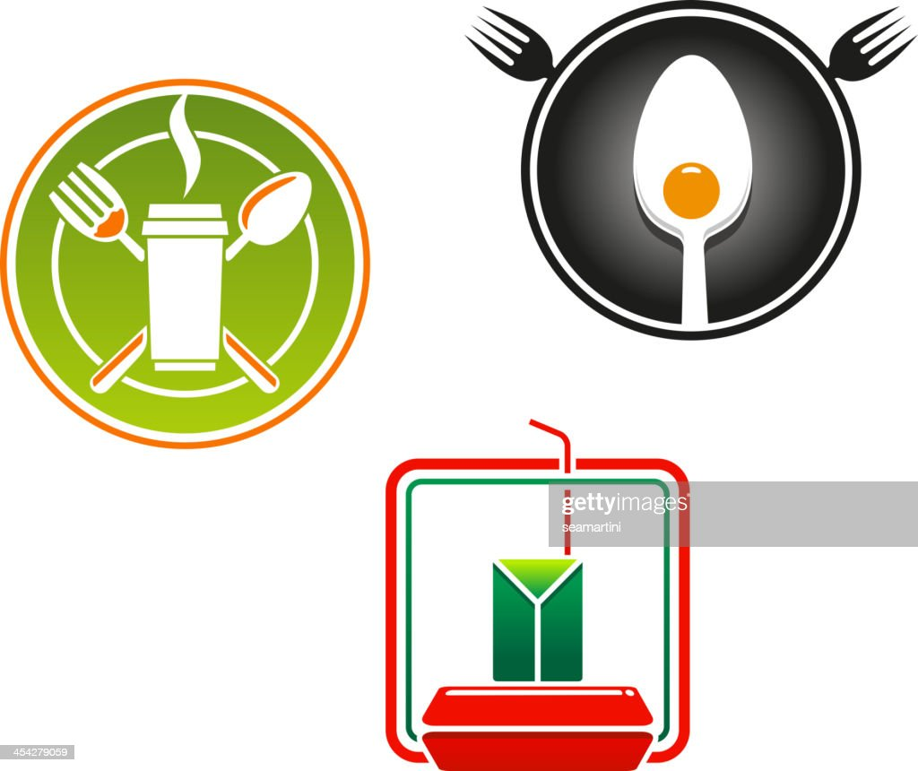 Fast Food Emblems And Symbols Vector Art Getty Images