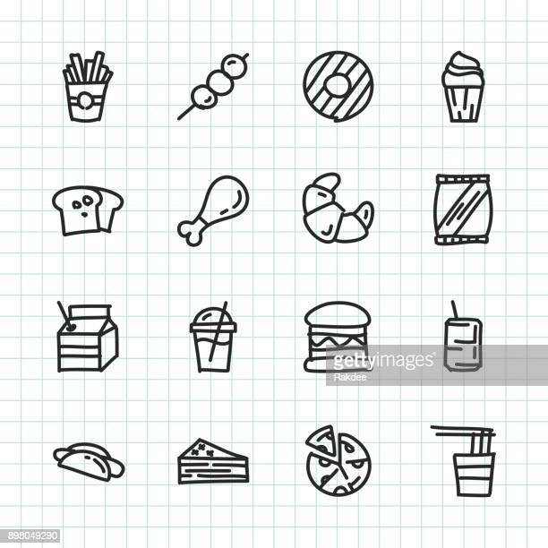 fast food icon - hand drawn series - juice drink stock illustrations, clip art, cartoons, & icons