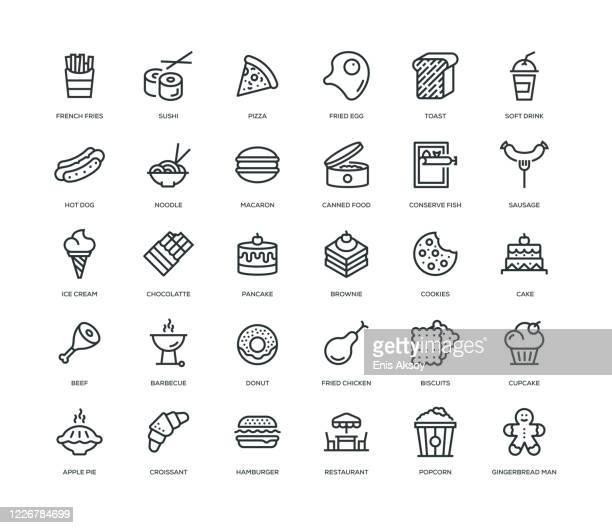 ファーストフードアイコンセット - 寿司点のイラスト素材/クリップアート素材/マンガ素材/アイコン素材