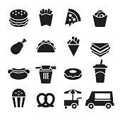 Fast Food Icons [Black Edition]