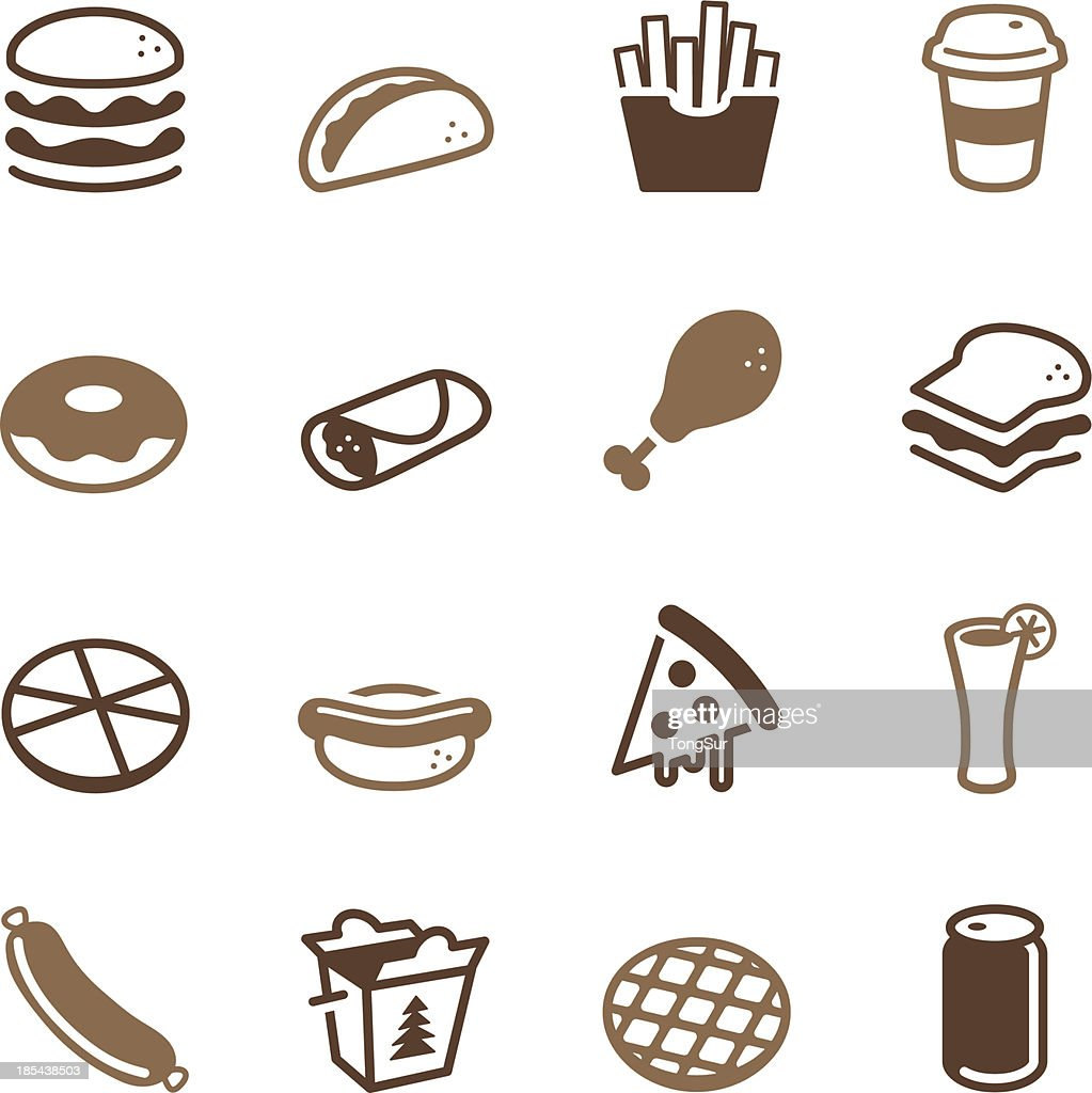 Fast Food Icons - Color Series : stock illustration