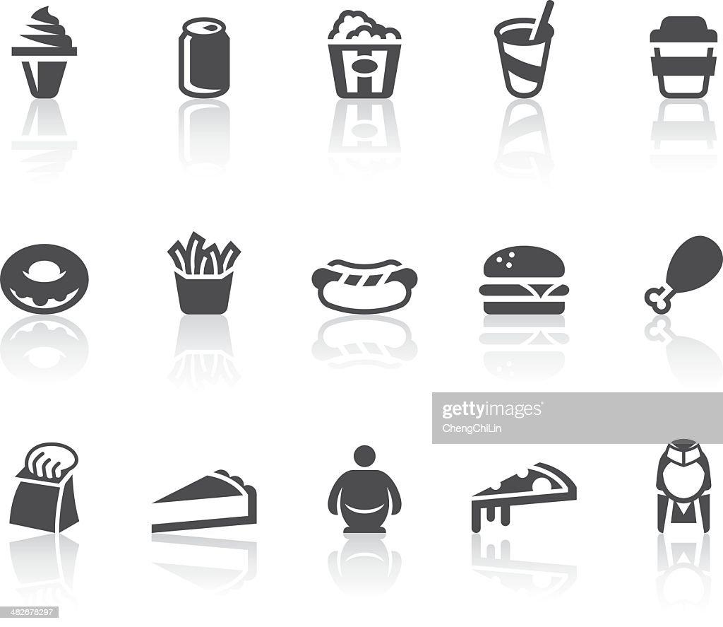 Fast Food Icons | Simple Black Series